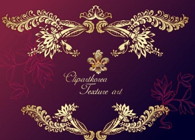 Vector Golden Royal Floral Ornamental Pattern 01