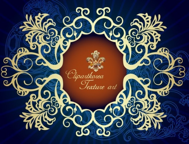 Vector Golden Royal Floral Ornamental Pattern 02