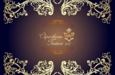 Vector Golden Royal Floral Ornamental Pattern 05
