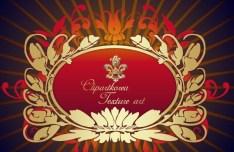 Vector Golden Royal Floral Ornamental Pattern 06