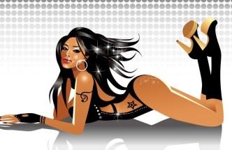 Vector Sexy Dancing Girl 02