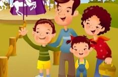 Cartoon Family Life Vector Illustration 07