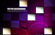 Dark Purple 3D Blocks Backround