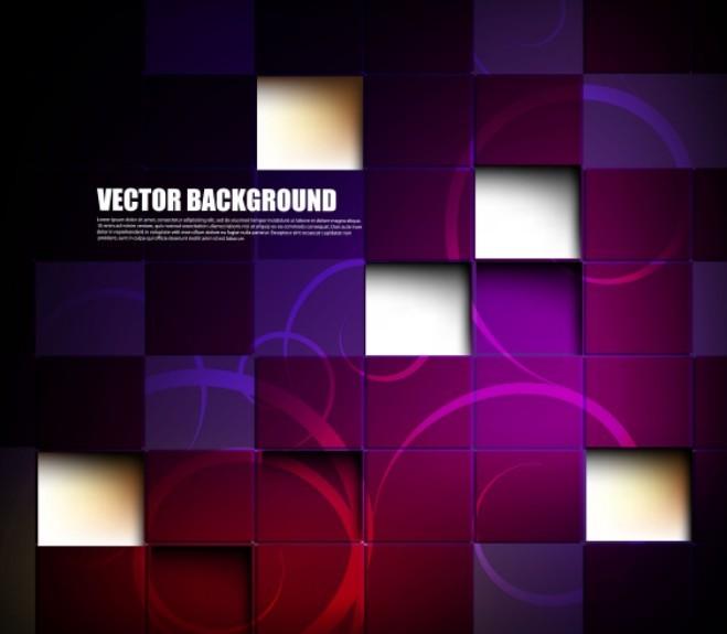 Dark Purple 3D Blocks Backround
