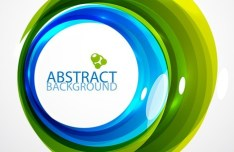 Green and Blue Abstract Circles Background Vector