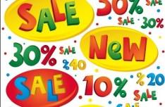 Vector Cartoon Sale and Discount Elements