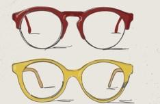 4 Hand Drawn Vector Glasses