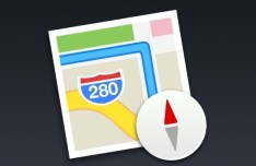 Flat Mac OS X Map Icon PSD