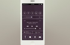 Flat iOS 7 Control Center Interface PSD