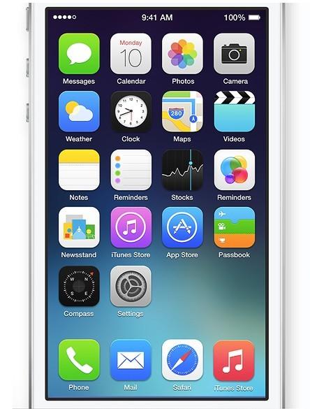 New iOS 7 Screen PSD