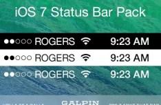 New iOS 7 Status Bars Pack Vector