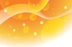Bright Floral and Abstract Wave Background Vector 07