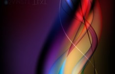 Gorgeous Abstract Colorful Curves Background Vector 05