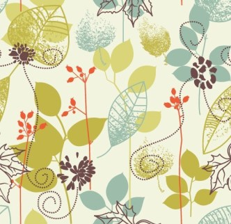 Clean Hand-Drawn Floral Patterns Vector 04