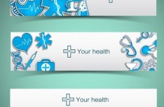 Fresh and Clean Medical Banners Vector 02