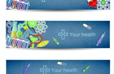 Fresh and Clean Medical Banners Vector 03