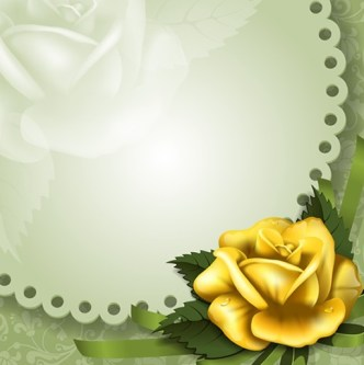 Vector Vintage Naive Flower Frame 03