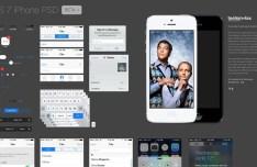 iOS 7 GUI Elements PSD