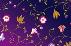 Colorful Floral & Flower Pattern Background Vector