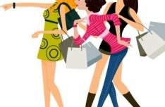 Fashion Shopping Girls Vector