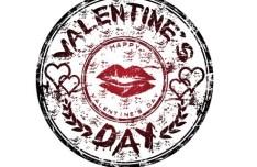 Vintage Vector Happy Valentine's Day Seal
