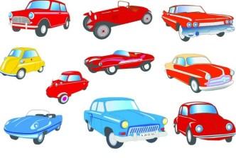 Cute Cartoon Transportation Icons Vector 02