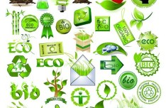 Green ECO Concept Design Elements Vector