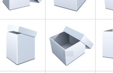 Set Of Vector Packaging Box Mockups 03