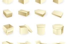 Set Of Vector Packaging Box Mockups 04