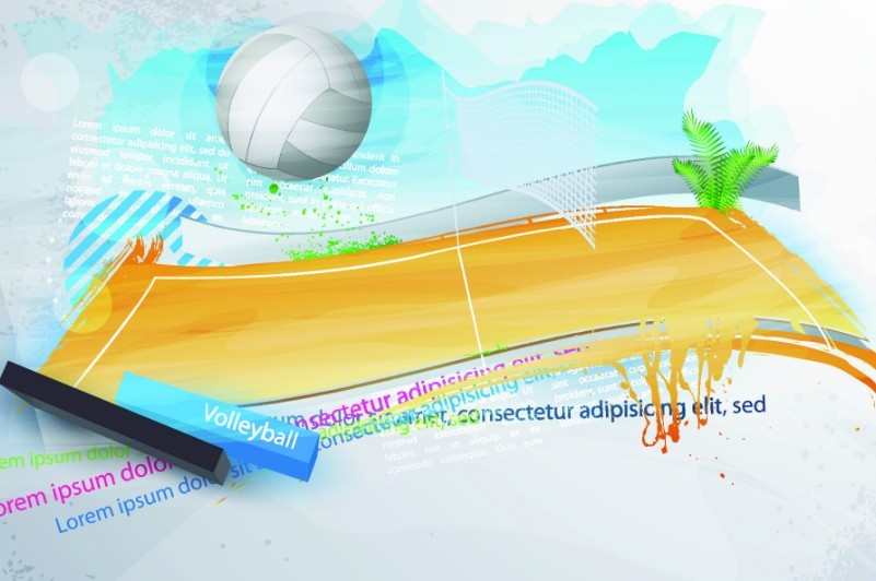 Abstract Background Volleyball Vector Design: Free Elegant Abstract Volleyball Court Background Vector