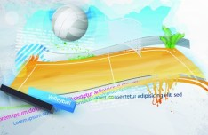Elegant Abstract Volleyball Court Background Vector