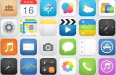 24 New iOS 7 Style App Icons PSD