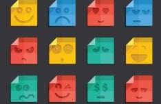 Flat File-Like Smileys Icons Vector