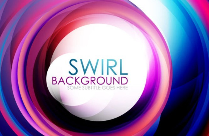 Free Colorful Abstract Swirls Background Vector - TitanUI