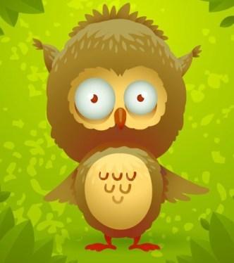 Cute Cartoon Owl Vector 05