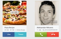Skype Call & Share Widget PSD
