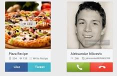 Skype Call & Share Widget PSD