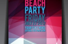 Vector Summer Beach Party Flyer Template 01