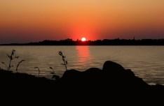 Vector Sunrise & Sunset At Sea 02