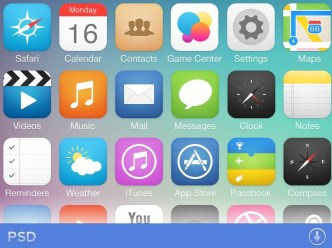 iOS 7 App Icons Pack