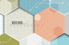3D Paper Hexagon Background Vector
