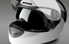 Vector Motorcycle Helmet