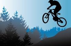 Vector Mountain Bike Illustration