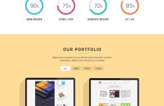 Flat Cuda Single Page Portfolio PSD Template