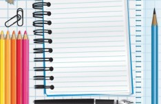 Vector Essential Stationery for Students 04