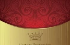 Vintage Golden Flower Cover For Menu Vector 05