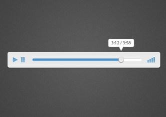 Minimal Flat Audio Player PSD