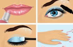 Vector Beautiful Makeup Ideas Illustration 01