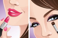 Vector Beautiful Makeup Ideas Illustration 02