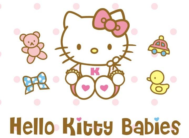 Free Vector Hello Kitty Babies Design